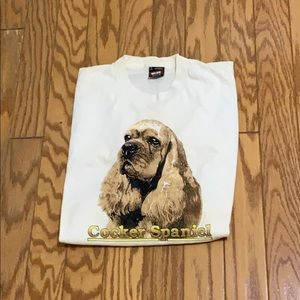 Vintage 80s Fruit of the Loom Dog T Shirt